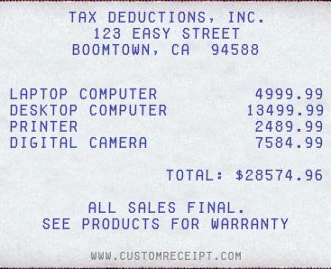 make your own receipt