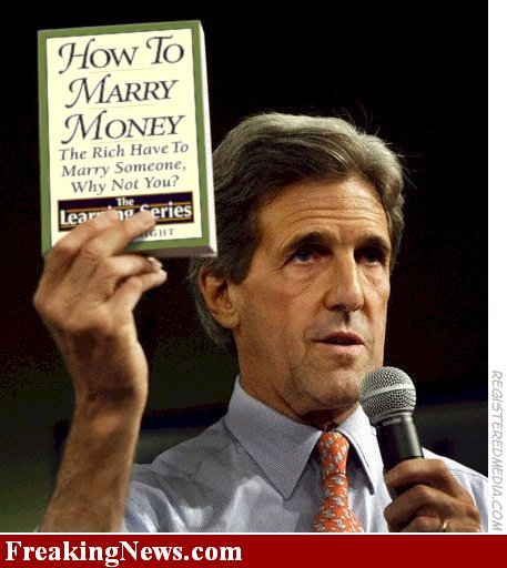 John Kerry knows how to marry money.